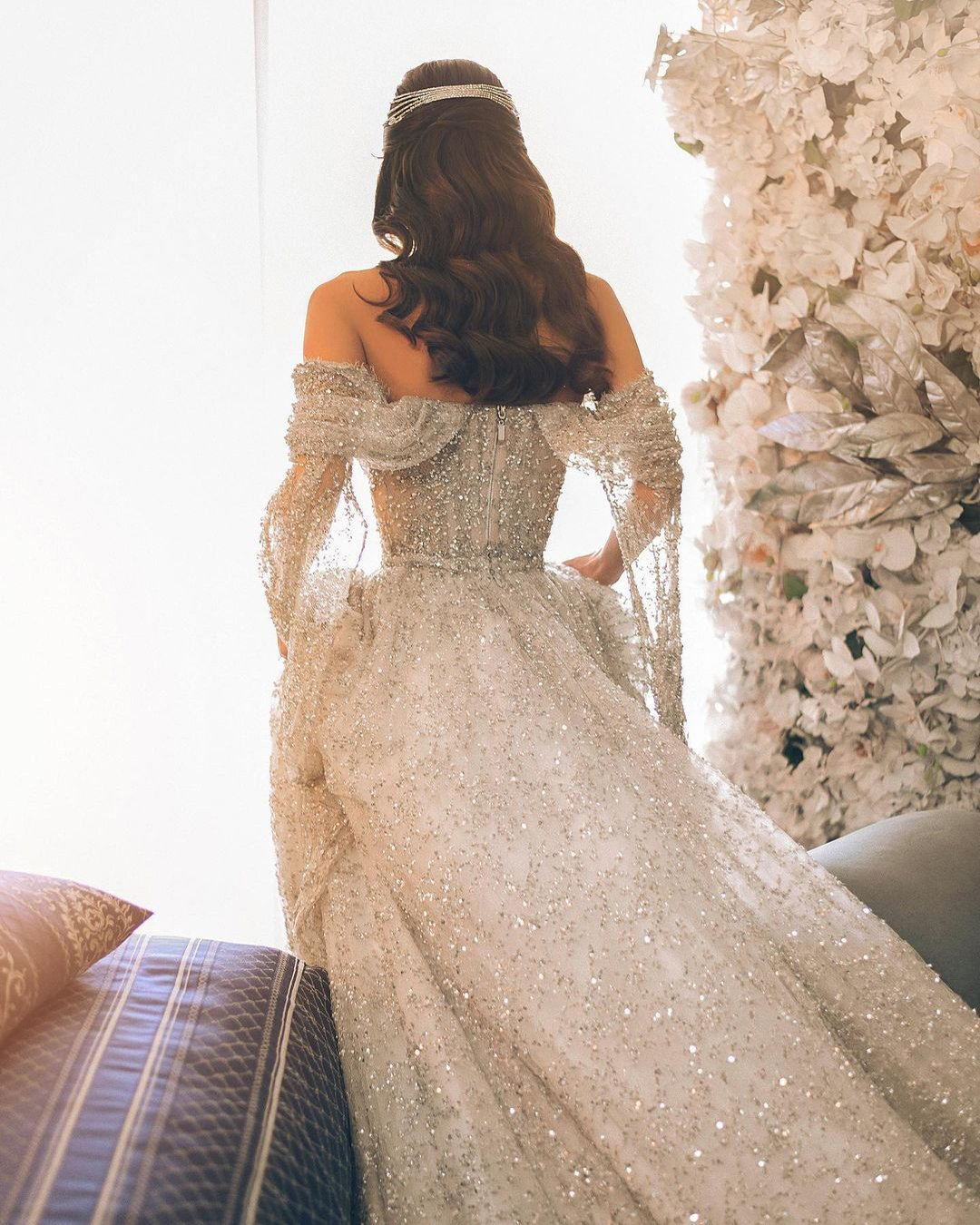 vintage inspired wedding dresses a line off the shoulder sequins ax_armina