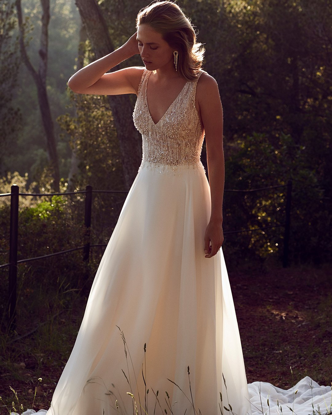 vintage inspired wedding dresses a line v neckline beaded top justinalexander