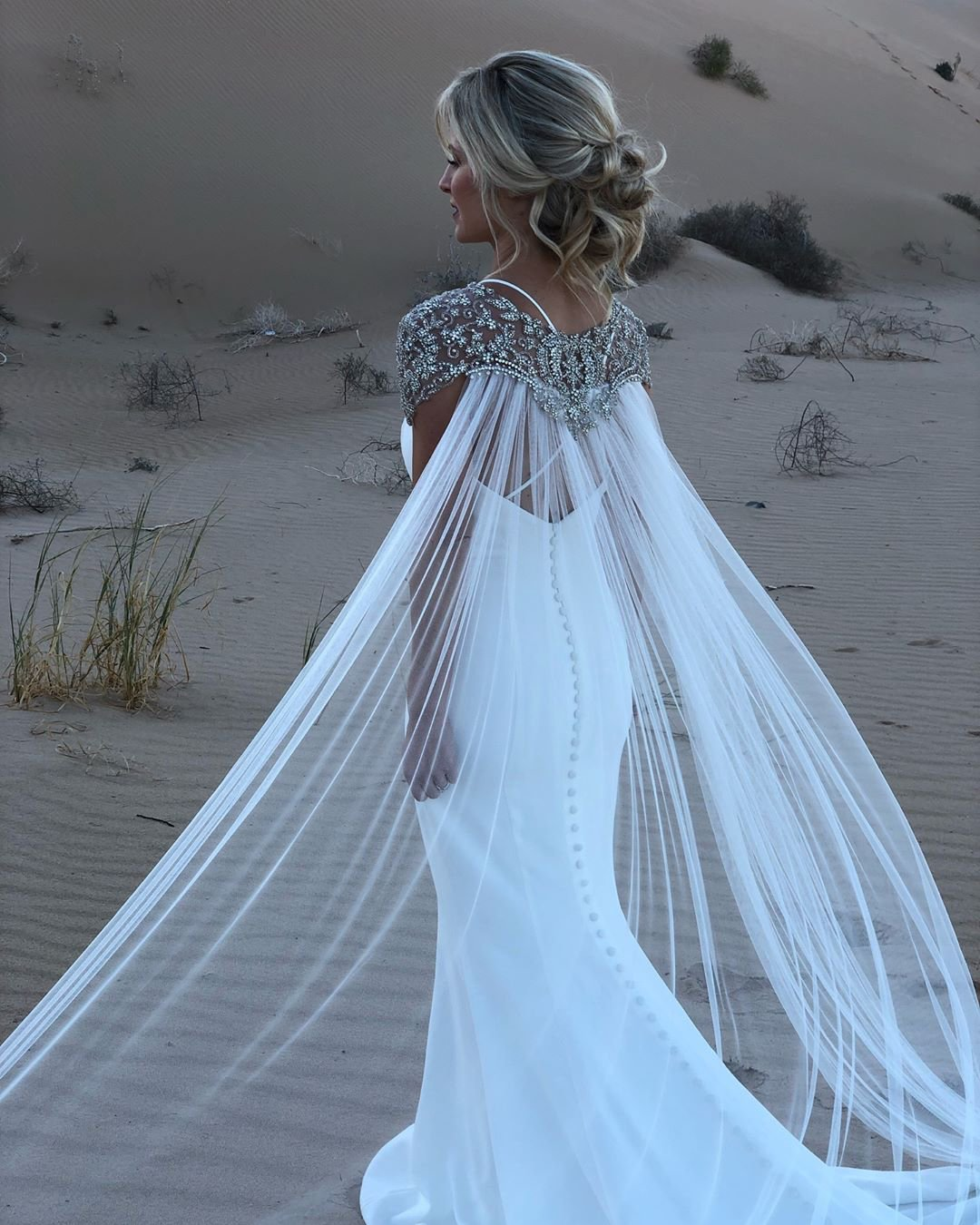 vintage inspired wedding dresses trumpet with jeweled cape casablanca