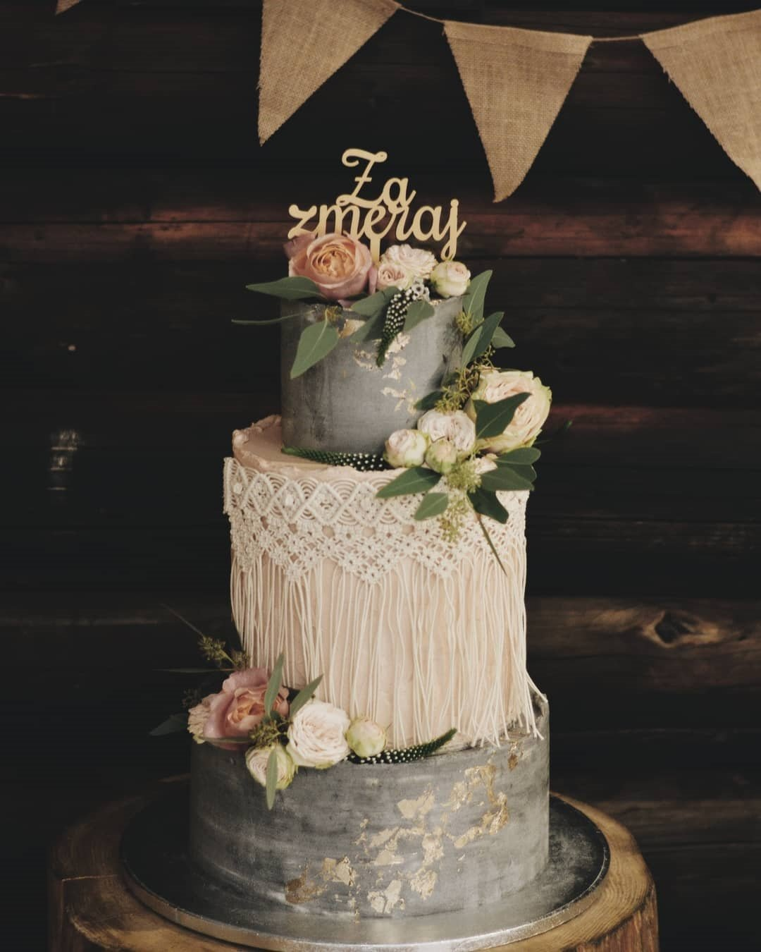 wedding cake trends boho cake with macrame emazingcreationsbyema