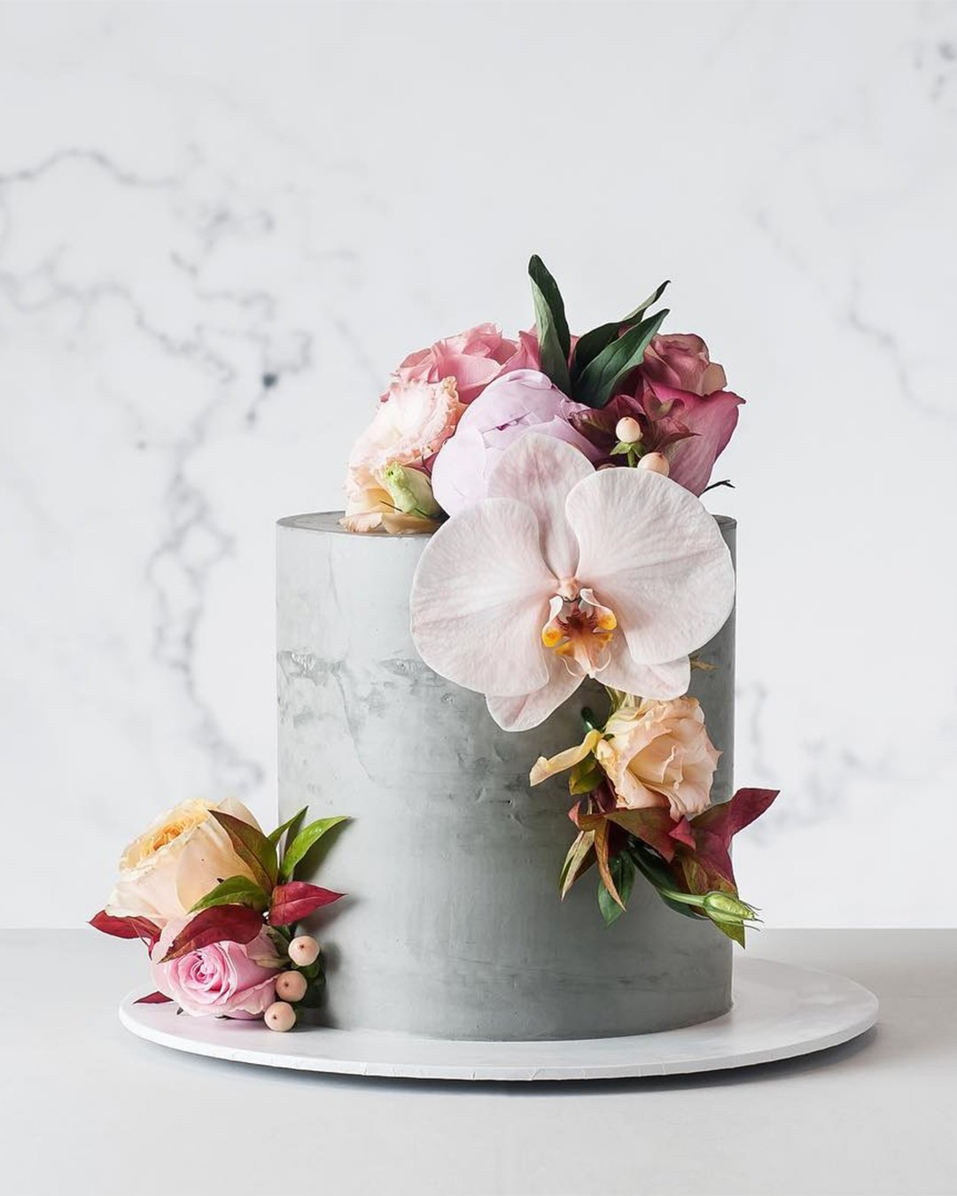 wedding cake trends grey small cake cake ink