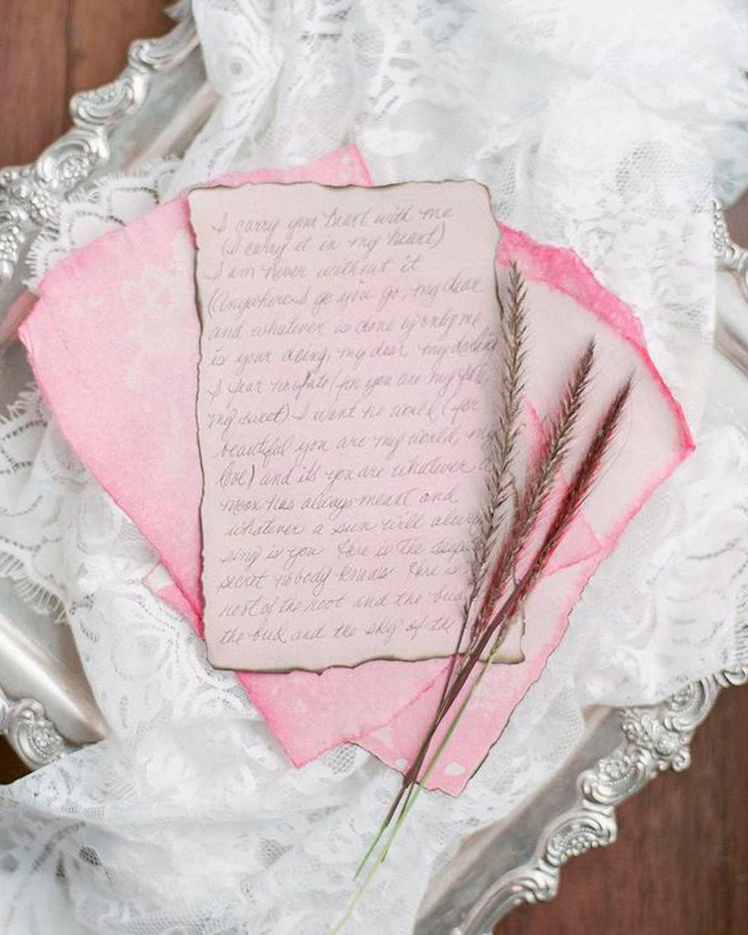 wedding poems pink