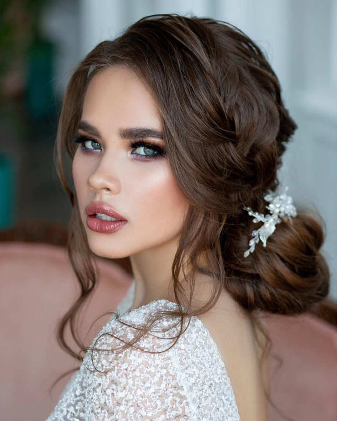 boho wedding makeup fresh elegant long lashes elstile