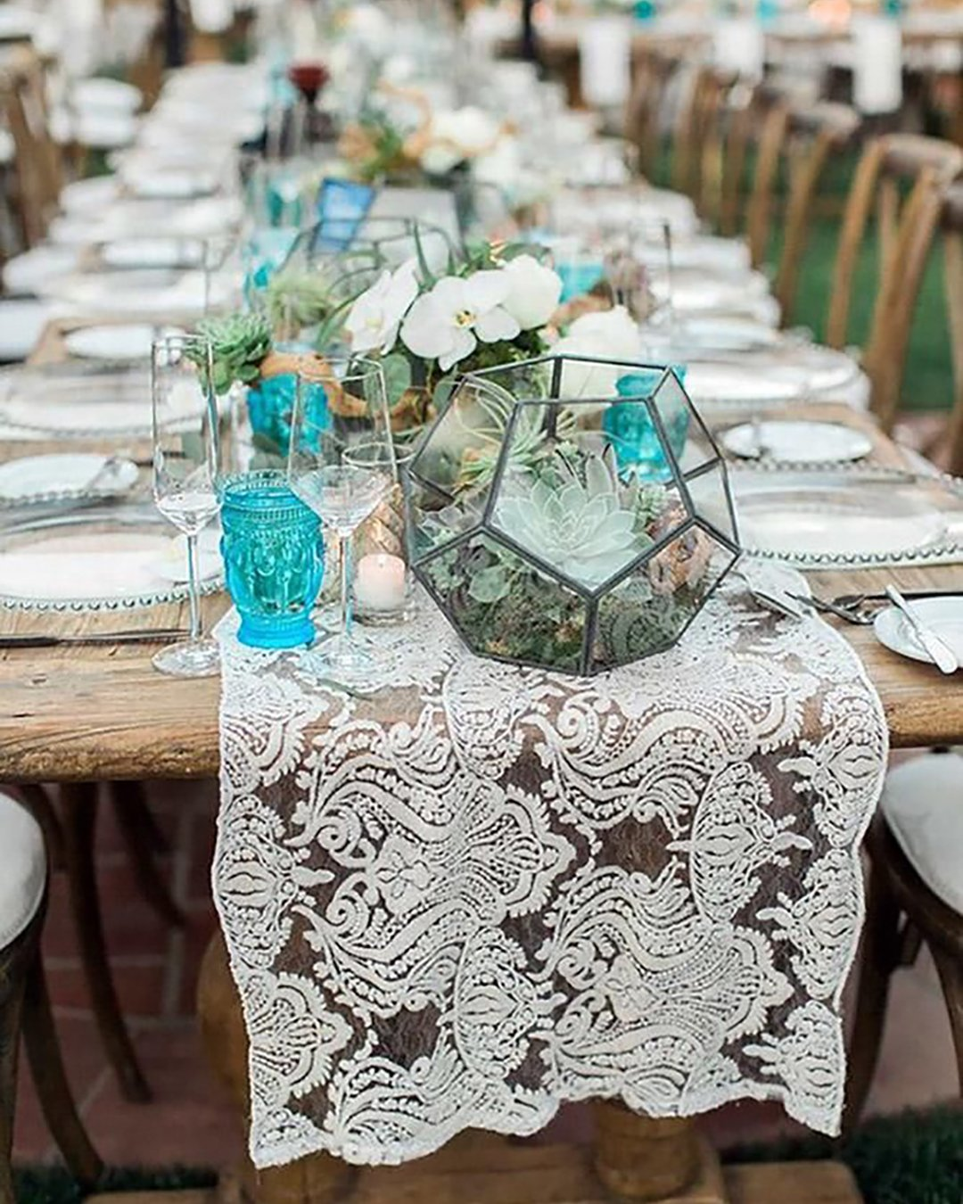 cheap boho decor bohemian lace table with orchids and geometry jeremy chou