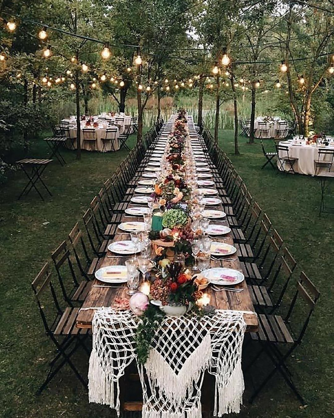 cheap boho decor macrame ideas for outdoor long table hallstromhome