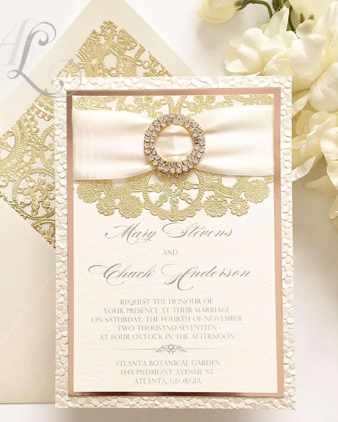 nude wedding photos nude invitation gold lace beautiful alexandrialindo