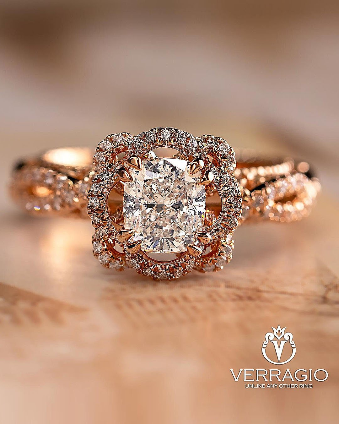 unique engagement rings oval cut diamond halo rose gold