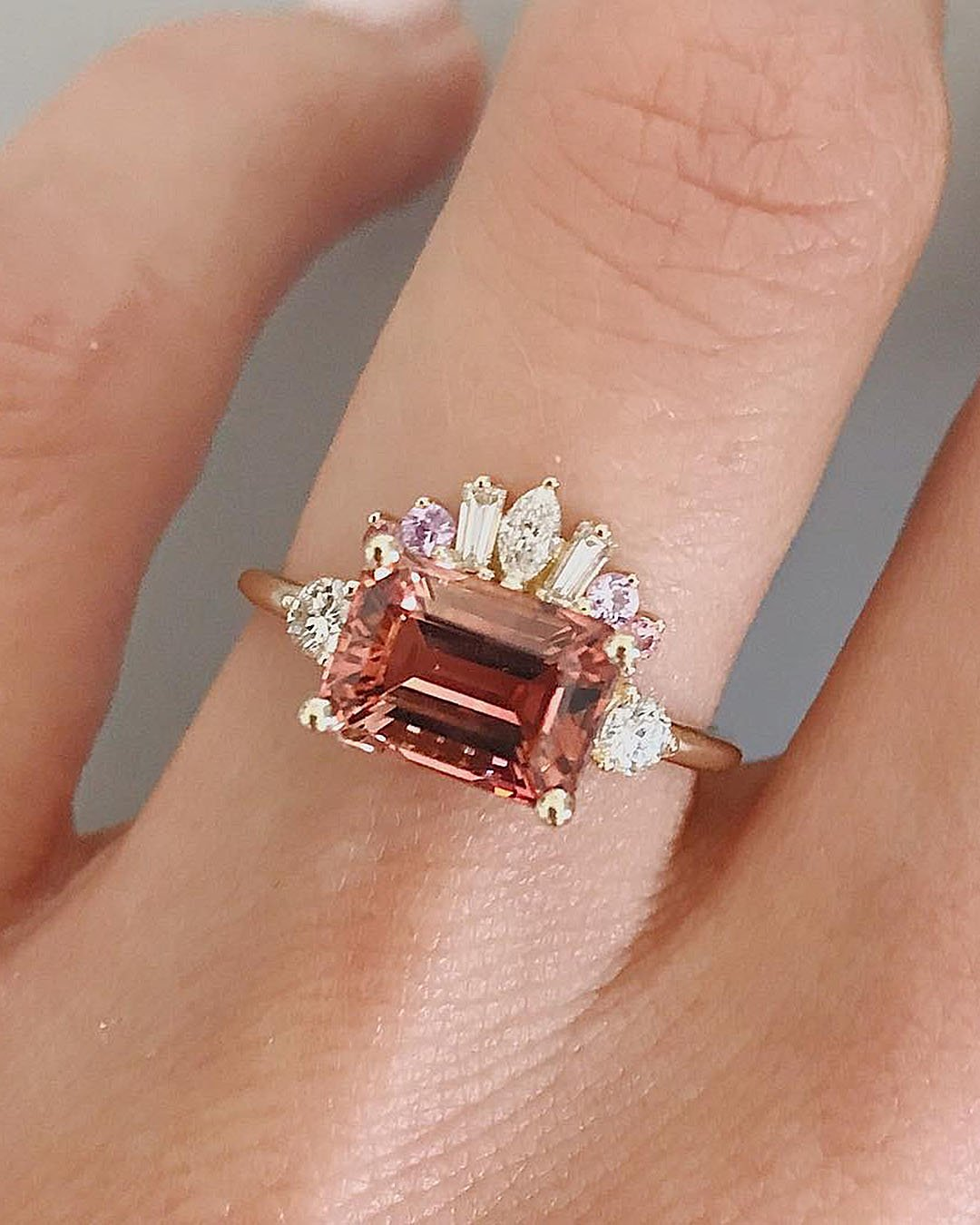 unique engagement rings unique elements radiant cut
