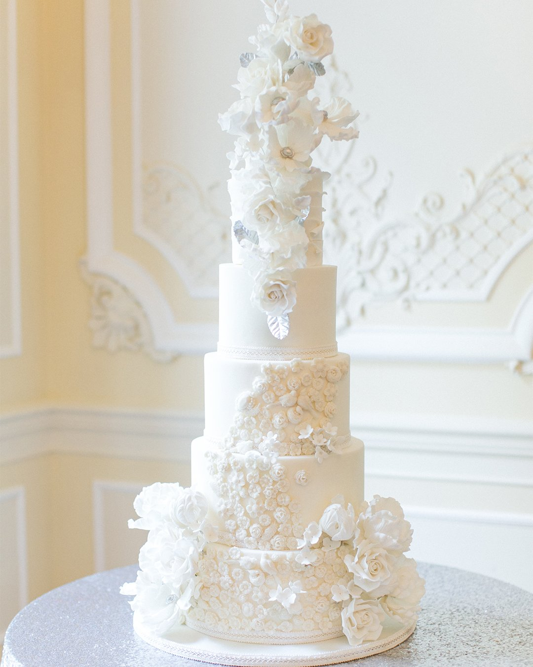 wedding cake trends White wedding cake elizabethscakeemporium