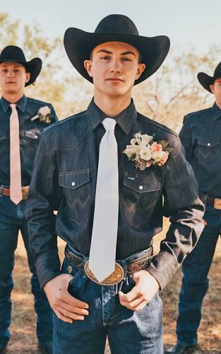 rustic groom attire featured