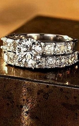 wedding rings white gold